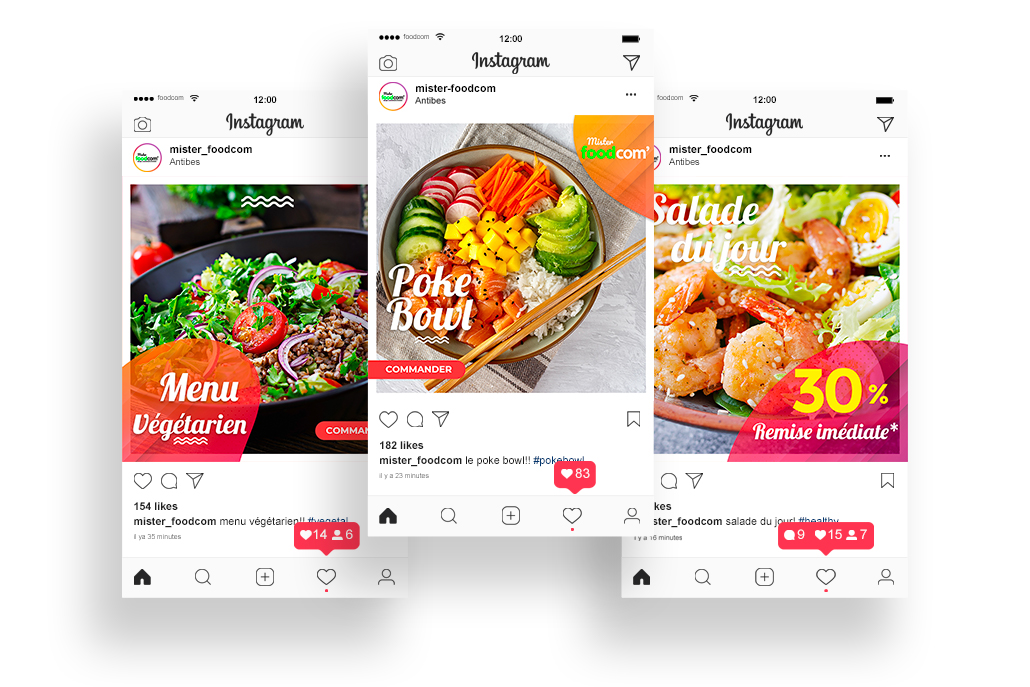 exemple de post instagram alimentaire